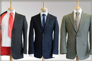 three bespoke suits